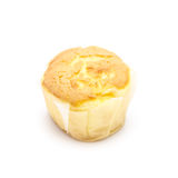 Tasty muffin cakes on white backgrond Royalty Free Stock Photos