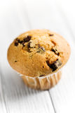 Tasty muffin with chocolate Royalty Free Stock Photo