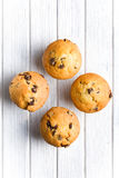 Tasty muffin with chocolate Stock Photos