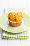 The tasty muffin with chocolate. Stock Photography