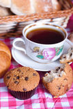 Tasty muffins for tea Stock Image