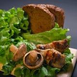 Tasty mushroom Stock Images