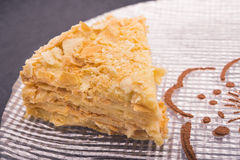 Tasty napoleon cake Royalty Free Stock Photo