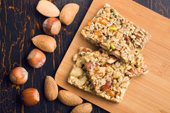 Tasty nut bar Stock Image