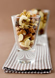 Tasty nuts. Close up of various nuts Stock Image