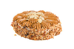 Tasty nuts cake Royalty Free Stock Photography