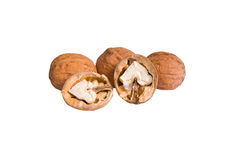 Tasty Nuts On A White. Royalty Free Stock Images