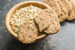 Tasty oatmeal cookies. Royalty Free Stock Photos
