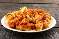Tasty onion pkkoda. Indian spicy onion pkkoda or pakoras stock photo