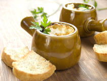 Tasty onion soup Stock Photo
