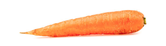 Tasty orange carrot isolated on white background Royalty Free Stock Image