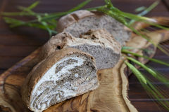 Tasty organic bread with various seeds Royalty Free Stock Image