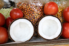 Tasty organic coconuts at local market, Kolkata Royalty Free Stock Images