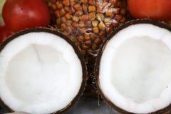 Tasty organic coconuts Stock Image