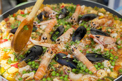 Tasty organic paella Royalty Free Stock Photography