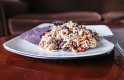 Tasty orzo black bean salad Royalty Free Stock Photography
