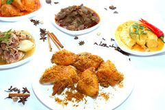 Tasty Padang Dishes Royalty Free Stock Photos