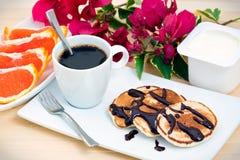 Tasty pancake breakfast Stock Image
