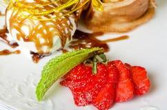 Tasty pancake dessert Stock Photos