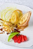 Tasty pancake dessert Stock Images
