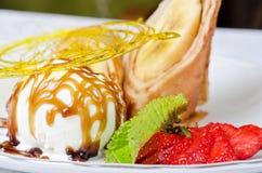 Tasty pancake dessert Royalty Free Stock Photo