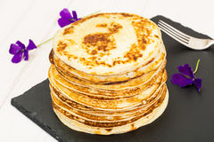 Tasty Pancakes Stack Royalty Free Stock Photography