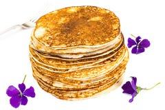 Tasty Pancakes Stack Stock Photos