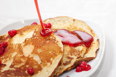 Tasty Pancakes With A Syrup Stock Photography