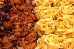 Tasty pasta-Italian meat sauce Royalty Free Stock Images