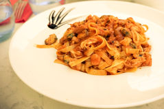 Tasty pasta-Italian meat sauce pasta Royalty Free Stock Images