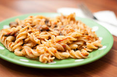 Tasty pasta plate Stock Images