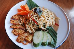 Tasty Pasta Spaghetti plate stock photography