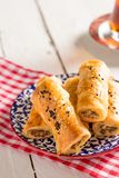 Tasty Pastry Borek and Tea Royalty Free Stock Image