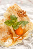 Tasty pastry with caramel Stock Photography