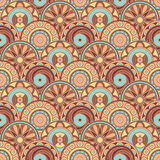 Tasty pattern. Seamless colorful background of abstract cookies Stock Photo