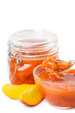 Tasty peach jam Royalty Free Stock Photography