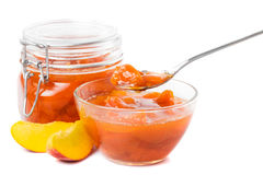 Tasty peach jam Royalty Free Stock Image