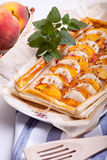 Tasty peaches and apples pie Royalty Free Stock Photo
