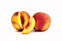 Tasty peaches, two nectarines Stock Image