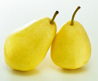 Tasty pears. Two tasty pears on a white Royalty Free Stock Photography