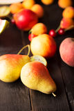 Tasty pears and other fruits Royalty Free Stock Image