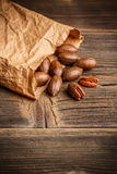 Tasty pecan nuts Royalty Free Stock Photo