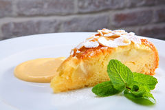 Tasty pie with apple stock images