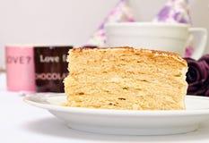 Tasty cake with cream Stock Image