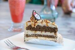 Tasty piece of coffee cake Stock Image