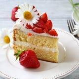 Tasty piece of summer cake Royalty Free Stock Photos