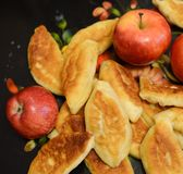 Tasty pies from apples Stock Photography