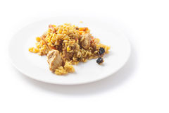 Tasty pilaw. On a plate Royalty Free Stock Photos