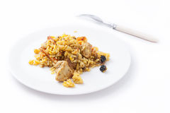 Tasty pilaw. On a plate Royalty Free Stock Images