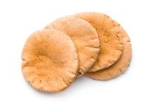 Tasty pita bread. Tasty pita bread isolated on white background royalty free stock photos